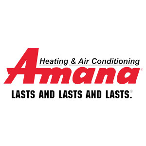 Amana brand badge for HVAC installation solution