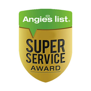 Angie's List Super Services badge for HVAC installation and service