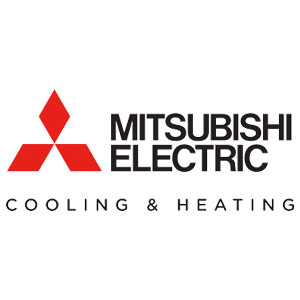 Mitsubishi heating and cooling badge