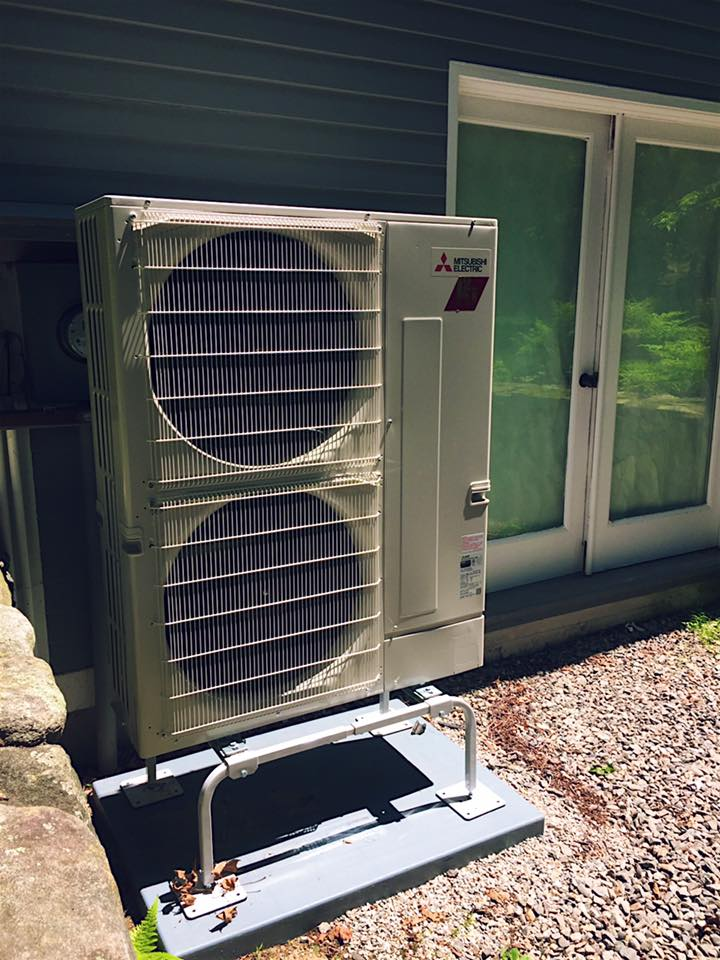 New heat pump installation in Concord, MA