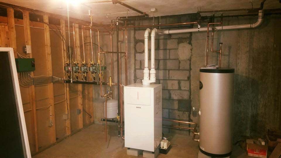 New heating system replacement in Westford, MA