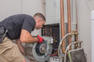Part of an installation of a hybrid HVAC system in Marlborough, MA