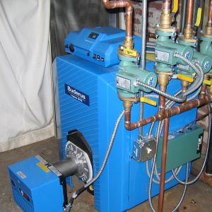 Boiler furnace installation example