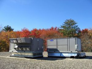 Commercial HVAC installation