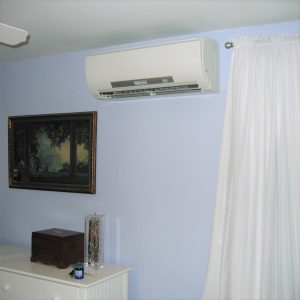 Ductless heating and cooling systems example