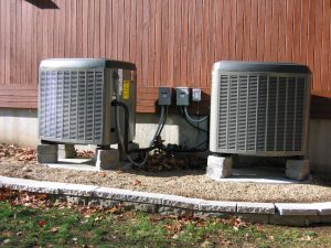 Two heat pumps that were installed