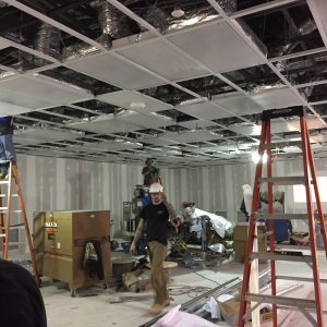 In progress commercial HVAC installation