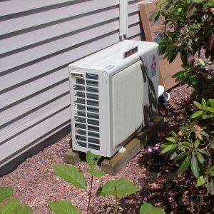 Mitsubishi mini split heat pump installation